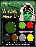 Maquillage Déguisement Femme Fille Halloween Sorcière Zombie Vampire Diable - Vert Rouge Jaune Noir