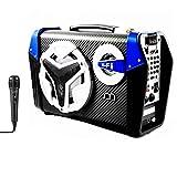Altavoz Bluetooth Karaoke con Micrófono Radio FM Portátil Inalámbrico USB TF Card Recargable con Correa