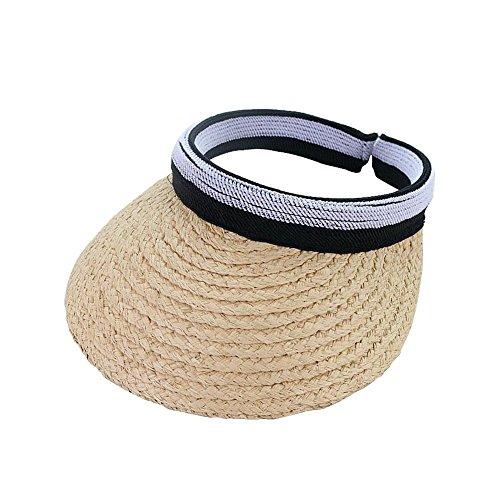 Colinsa Damen Visoren Faltbar Empty Top Sonnenvisor Sommer Sonnenschutz Strand Hüte für Feiertags-Reise-Strand-Klettern-Laufen zusammen
