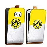 DeinDesign Samsung Galaxy S6 Edge Tasche braun Hülle Flip Case karamell Borussia Dortmund Fanartikel BVB