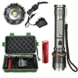 5/Luz para acampada senderismo y exteriores fundido Power X800/XML T6/superhell Agua Resistente al Polic/ía port/átil Linterna 8000/l/úmenes LED t/áctica Linternas Set