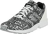 adidas Unisex-Erwachsene ZX Flux Sneakers, weiß/schwarz, 37 1/3 EU