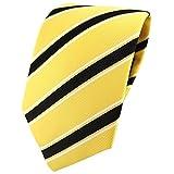 TigerTie Designer Krawatte gelb schwarz weiß gestreift - Binder