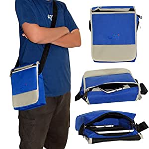 ACM Flip Soft Padded Shoulder Sling Bag for Vizio Vz-706 Carrying Case Blue
