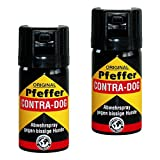KH-Security Pfefferspray Contra-Dog Abwehrspray, 2-er Pack, 80 ml, 130102set2