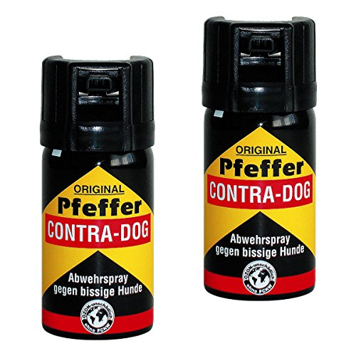 kh security Pfefferspray Contra-Dog Abwehrspray, 2-er Pack, 80 ml, 130102set2