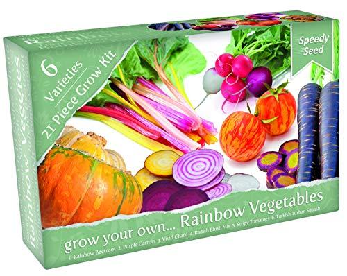 Galleria fotografica Kit regalo per la coltivazione di verdure strane e funky. 6 varietà straordinarie da coltivare. Include semi, terriccio, cartellini ed una serretta. fantastico regalo per gli amanti del giardinaggio.