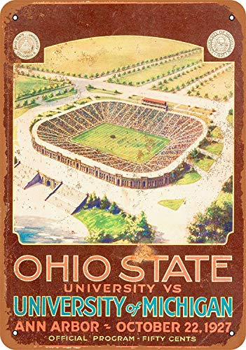 Kia Haop 1927 Ohio State Against Michigan Metall Blechschild Garage Cafe Garten Wohnzimmer Küche Plaque Art Poster Metallschild Wand Dekoration
