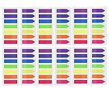 1800, Haftmarker, Neonfarben, verschiedene Farben, transparent, Schlaufen, 12Sets