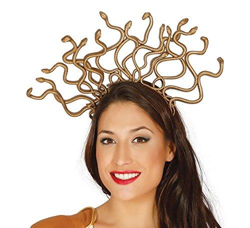 Diadema de reina medusa. Combínala con tu disfraz de egipcia, romana, etc... Perfecta para que te sientas una Diosa en la fiesta de Disfraces. ¡No te lo pienses!. ¡¡Disfrazzate y disfrutaaaa!!