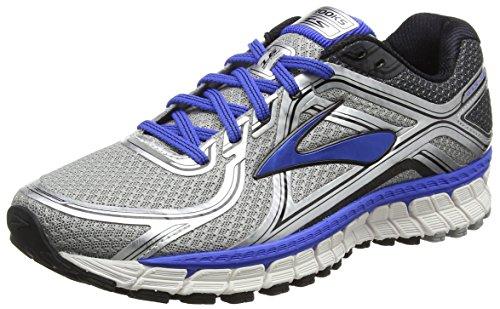 Brooks Adrenaline Gts 16-110212 2e 181, Chaussures de Trail Homme Argent (Silver/Blue/Black 181)