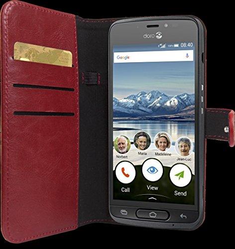 Doro Wallet case - Flip-Hülle für Mobiltelefon - Rot, 380236 (Elektronik Wallet)
