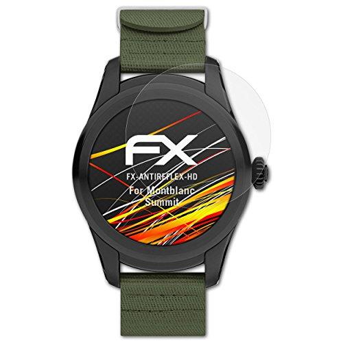 atFoliX Schutzfolie kompatibel mit Montblanc Summit Bildschirmschutzfolie, HD-Entspiegelung FX Folie (3X)