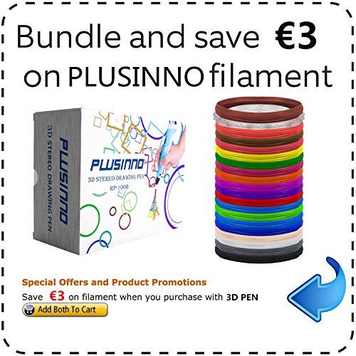 Plusinno® 3D Drucker Stift DIY Scribbler 3D Stereoscopic Printing Pen mit LCD-Bildschirm + 13 PLA Filament (10 verschiedene Farben) + 10 Papier Modelle für die Praxis der EU - 6