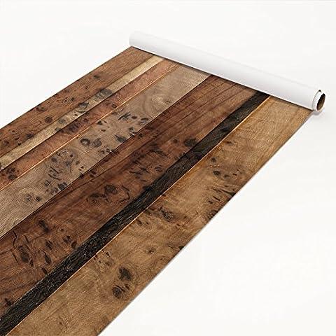 Film collant - Wooden wall bird, film de bricolage, film de meuble, film de verre, film design, film décoratif, film de bois, DIY, cuisine, séjour, commodes, chambre d'enfant, Dimension: 50cm x 100cm
