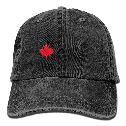 Hoklcvd Men & Women Machen Kanada großartig Classic Washed Dyed Cotton Solid Color...