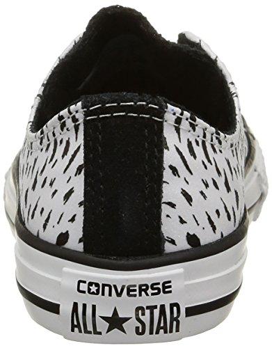 Converse CT BB Animal Ox, Baskets Basses Mixte Enfant Blanc (Blanc/Noir)