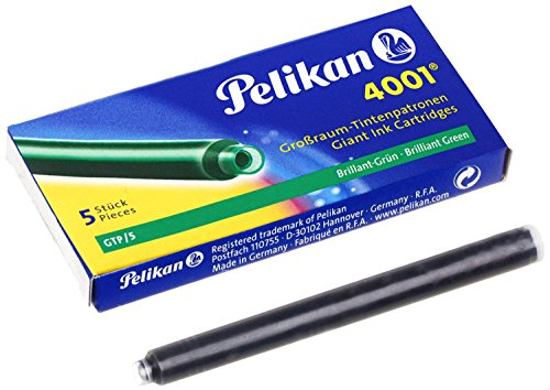 Pelikan 310631 Tintenpatronen 4001 GTP/5, 5-er Pack, brillant-grün