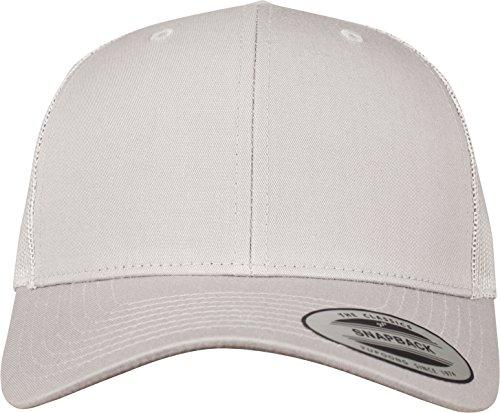 Flexfit Snapback Unisex Baseball-Mütze | Trucker Kappe Mesh Basecap, Silber...