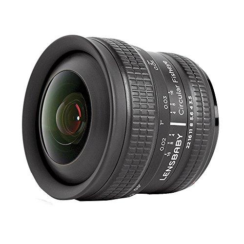 Lensbaby Circular Fisheye - Objetivo para Canon Eos (5.8 mm, f/3.5) color negro