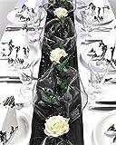 """Fibula [Style] ® Komplettset""""Flair black"""" Größe S Tischdekoration für Trauer/Hochzeit/Geburtstag/Jubiläum ectr. in schwarz - creme für ca. 8-10 Personen"""