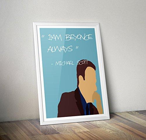 Michael Scott Poster - das Büro Print - Zitat - Alternative TV/Movie Prints in verschiedenen Größen (Rahmen nicht im Lieferumfang enthalten)