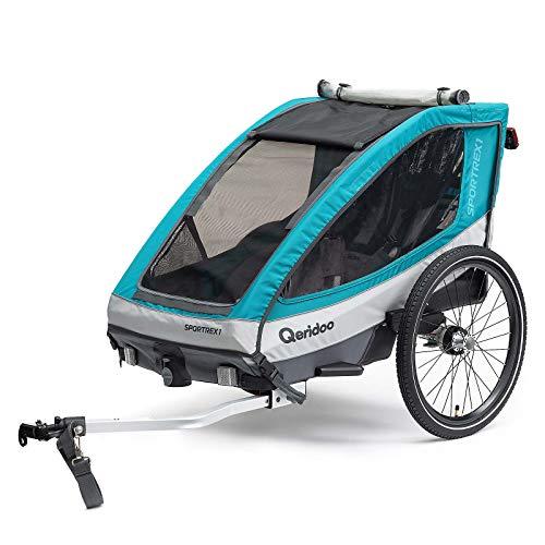 Qeridoo Sportrex1 Basic Kinderfahrradanhänger - Aquamarin