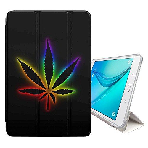 Graphic4You Gras Marihuana Raucher Smart cover Hülle Dünn Tri-Fold Schlank Superleicht Ständer Cover Schutzhülle Tasche für Samsung Galaxy Tab E - 9.6