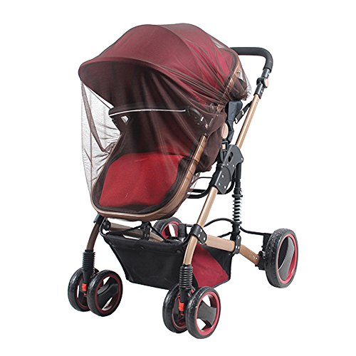 Universal Insektenschutz Mücke Bug Sichere Netz Net Volle Deckung für Baby Kinderwagen Kinderwagen Babykörbchen wiegen Buggy Kinderwagen Kaffee