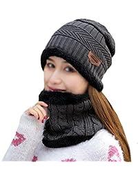 ... para Ropa   Mujer   Accesorios   Sombreros y gorras. LA HAUTE -  Conjunto de Gorra y Bufanda de Forro Polar Unisex de Invierno c9d60b406578