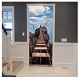DMMASH Hängebrücke Aufkleber 3D Fototapeten Abnehmbare Aufkleber Wand Schlafzimmer Türen Parlor Büro Wandaufkleber Wohnkultur 77 X 200 cm