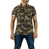 Ital-Design Camouflage Kurzarm Hemd für Herren, Khaki in Gr. XL Bei