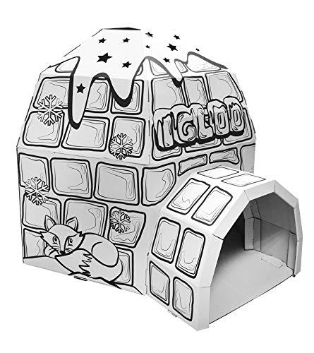 Ricco Kids 3D-Karton-Spielhaus zum Ausmalen und Basteln