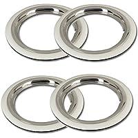 Cerchione ad Set + bianco da parete anelli 14pollici–Universale, adatto autovetture. auto d' epoca,
