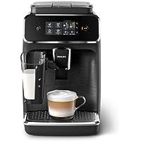 Philips 2200 Serie EP2232/40 Kaffeevollautomat, 3 Kaffeespezialitäten (LatteGo Milchsystem) Matt-schwarz/Schwarz…