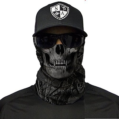 SA Company Herren Face Shield Blackout Forest Camo Skull