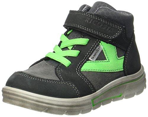 Ricosta Jungen Pete Hohe Sneaker, Grigio/Patina, 00027 EU