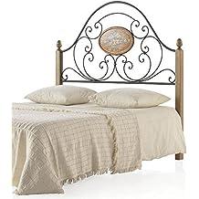 Hogar Decora Cabezal de Forja Patas Madera Floren, para colchón 135