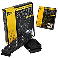 Guaranteed4Less Snow Ice Grips Grippers Winter Over The Shoes Boots Universal Metal Spikes Studs (1 Pair)