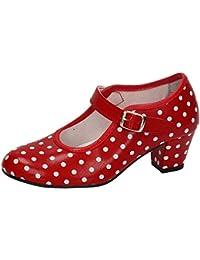 MADE IN SPAIN 17 SEVILLANAS FLAMENCOS NIÑA Zapatos TACÓN
