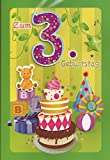 Kindergeburtstag Klappkarte Geburtstagskarte zum 3. Geburtstag - Handmade Style - Motiv 002