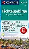 KOMPASS Wanderkarte Fichtelgebirge, Bayreuth, Marktredwitz: 4in1 Wanderkarte 1:50000 mit Aktiv Guide und Detailkarten inklusive Karte zur offline ... Langlaufen. (KOMPASS-Wanderkarten, Band 191)