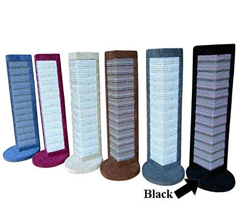 Scratching Post Griffoir d'angle pour protéger mobilier et murs en sisal Noir