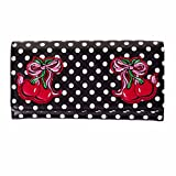 Damen Neu Retro Vintage 1950er jahre Rockabilly Cherry Gepunktet Geldbörse mit Exklusiv Starlet...