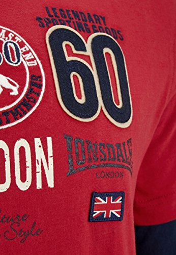 Lonsdale Longsleeve Teston Dark Red