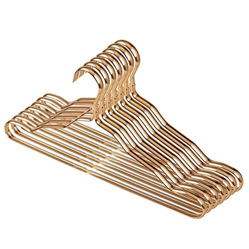 Winblooming Kleiderbügel Metall Mantel Rutschfest Schwerlast 42cm Länge Racks Packung mit 10 (Lebens Des Sinn Kostüm)