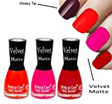 #9: Red Matte Nail Polish , Orange Matte Nail Polish, Pink Matte Nail Polish by Aroma Care ( For Matte Lover)