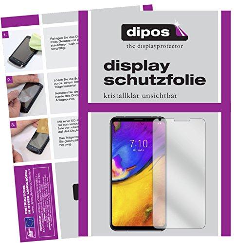 dipos I 2X Schutzfolie klar passend für LG V35 ThinQ Folie Bildschirmschutzfolie