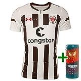 FC St. Pauli Under Armour Trikot Auswärts Away Auswärtstrikot 2018/2019 + gratis Fanergy Energy Drink Braun (XL)
