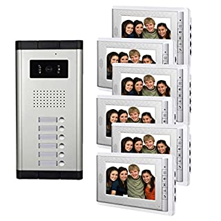 Amocam 6 Units Apartment Intercom Wired 7